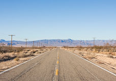 Empty Desert Road Stock Image