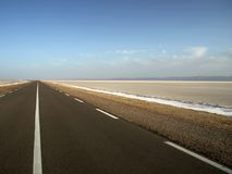 Empty desert road Royalty Free Stock Image