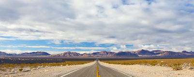 Empty Desert Road Royalty Free Stock Photography