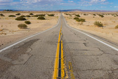 Empty Desert Wilderness Road Royalty Free Stock Photography