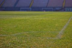 Empty deserted football stadium royalty free stock photography