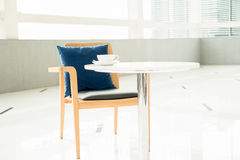 Empty desk and chair Royalty Free Stock Images