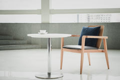 Empty desk and chair Royalty Free Stock Image