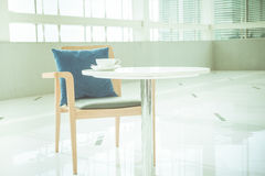 Empty desk and chair Royalty Free Stock Photography