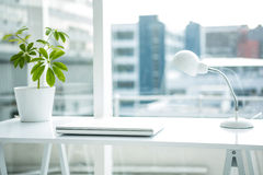 Empty desk. In a office Royalty Free Stock Photography