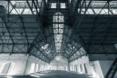 An empty desolate industrial building inside Royalty Free Stock Images
