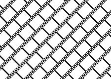 Empty diagonal filmstrips  background. EPS 8 Royalty Free Stock Photo