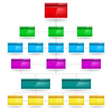 Empty Diagram. Color Empty Diagram. Illustration on white background Royalty Free Stock Images