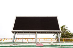 Empty digital billboard screen in stadium Royalty Free Stock Images
