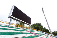 Empty digital billboard screen in stadium Royalty Free Stock Photography