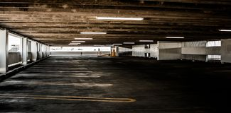 Empty car park Royalty Free Stock Photo