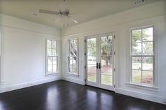 Empty dining or bedroom. With door to yard Stock Photos