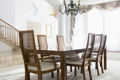Empty dining room Stock Image