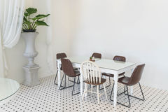 Empty dining table interior decoration Royalty Free Stock Photography