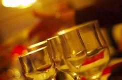 Empty Dinner Glasses Royalty Free Stock Photo