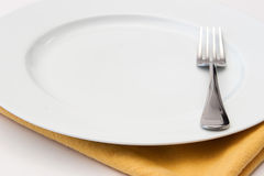 Empty Dinner Plate. With Copy Space Stock Photos