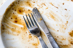 Empty Dinner Plate Royalty Free Stock Image