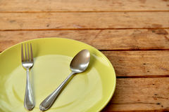 Empty dinner plate Royalty Free Stock Photography