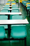 Empty dinning tables Royalty Free Stock Images