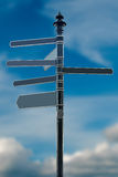 Empty direction sign Royalty Free Stock Images