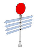 Empty direction signpost isolated. 3D. Stock Photo
