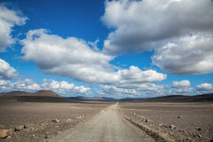 Empty dirt road in iceland Stock Photos