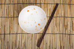 Empty Dirty bowl after food Royalty Free Stock Photos