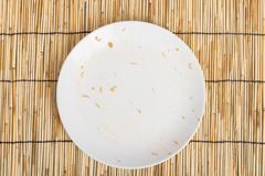 Empty Dirty bowl after food Stock Photography