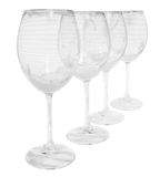 Empty dirty glasses with foam prepared for washing Stock Images