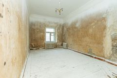 Empty dirty room Royalty Free Stock Photography