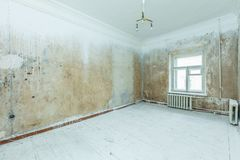 Empty dirty room. Ready for renovation and design Stock Images