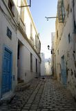 Empty and dirty street of Tunis. In Africa Stock Photo
