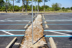 Empty disable parking lot Royalty Free Stock Photos