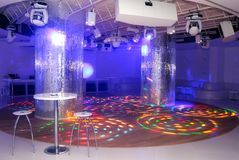 Empty disco dancefloor. Empty disco club dancefloor white color Royalty Free Stock Photos