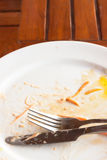 Empty dish after eated Royalty Free Stock Photography