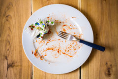 Empty dish after food Stock Image