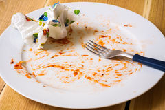 Empty dish after food Stock Photography