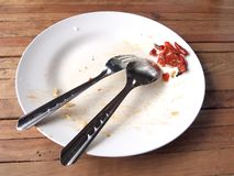 Empty dish Stock Photography