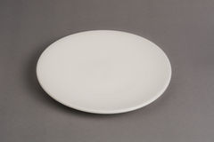 Empty dish white sphere Stock Image