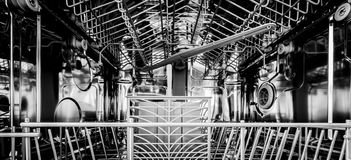 Empty dishwasher Royalty Free Stock Photography