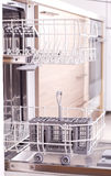 Empty dishwasher from side Royalty Free Stock Photography