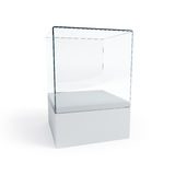 Empty display case Stock Photography