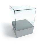 Empty display case Stock Images