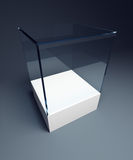 Empty display case Royalty Free Stock Image