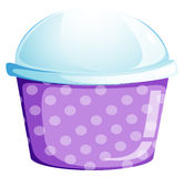 An empty disposable cupcake container Royalty Free Stock Photos