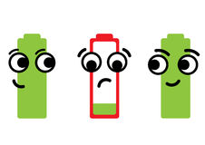 Empty dissatisfied battery Royalty Free Stock Images