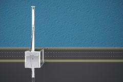 Empty dock with crane top view vector illustration