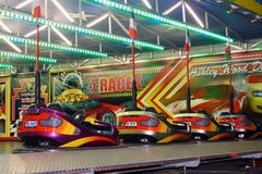 Empty dodgem cars Royalty Free Stock Photography