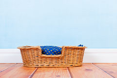 Empty dog basket Stock Photo