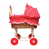 Empty doll's trolley isolated on white background. Empty doll's trolley for girls  isolated on white background Royalty Free Stock Images